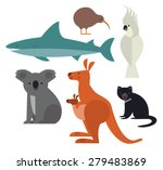 fauna of australia and new... | Shutterstock .eps vector #279483869