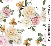 seamless floral pattern with... | Shutterstock .eps vector #279494603