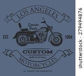 motorcycle vintage graphics  t... | Shutterstock . vector #279494876
