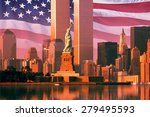 digital composite  new york... | Shutterstock . vector #279495593