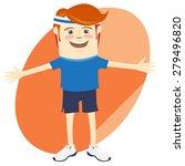illustration hipster funny... | Shutterstock . vector #279496820