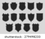 set of shields with contours... | Shutterstock .eps vector #279498233