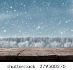 blue christmas background with... | Shutterstock . vector #279500270