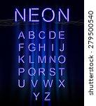 neon glow alphabet. | Shutterstock .eps vector #279500540