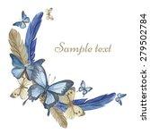 watercolor butterflies and... | Shutterstock .eps vector #279502784