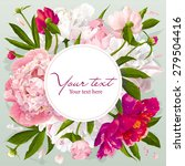 luxurious pink  red and white... | Shutterstock .eps vector #279504416