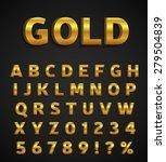 golden alphabet   Shutterstock .eps vector #279504839