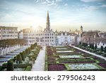 monts des arts in brussels ... | Shutterstock . vector #279506243