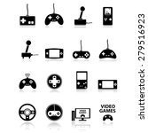 video game icons set | Shutterstock .eps vector #279516923