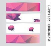 set of modern pink vector... | Shutterstock .eps vector #279516944