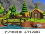 low poly island   Shutterstock . vector #279520088