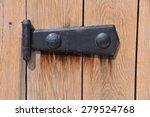 Black Medieval Door Hinge On...