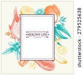 vector card with ink hand drawn ... | Shutterstock .eps vector #279525638