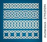 set of oriental pattern... | Shutterstock .eps vector #279529394