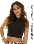 a woman in her crop top with... | Shutterstock . vector #279529499