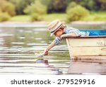 Little Boy Launch Paper Ship...