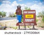 Fire Danger High Today. Preven...