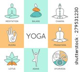 vector yoga illustration. set... | Shutterstock .eps vector #279531230