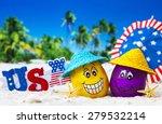 Happy Eggs On Ocean Beach...