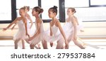 Group Of Young Ballerinas...