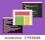 flat design illustration of... | Shutterstock .eps vector #279538088