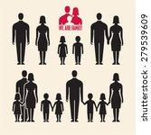 family icons. people icons.... | Shutterstock .eps vector #279539609
