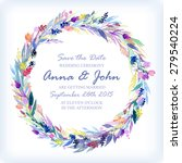 wedding invitation design... | Shutterstock .eps vector #279540224