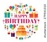 happy birthday circle... | Shutterstock .eps vector #279541310