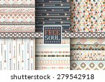 set of 6 ethnic seamless... | Shutterstock .eps vector #279542918