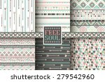 set of 6 ethnic seamless... | Shutterstock .eps vector #279542960