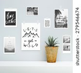hipster scandinavian interior... | Shutterstock . vector #279546674
