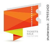 abstract orange paper ticket... | Shutterstock .eps vector #279551420