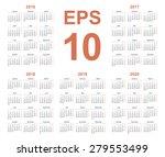 2016 year annual calendar...   Shutterstock .eps vector #279553499