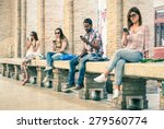 group of young multiracial... | Shutterstock . vector #279560774