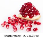 fresh pomegranate isolated on... | Shutterstock . vector #279569840