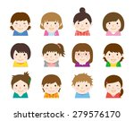girl's hairstyle set | Shutterstock .eps vector #279576170