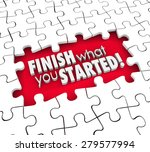finish what you started 3d... | Shutterstock . vector #279577994