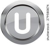 "vector  alphabet ""u""  button | Shutterstock .eps vector #279580874"