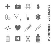 medical icons | Shutterstock .eps vector #279583988