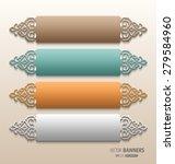 set of 3d persian floral...   Shutterstock .eps vector #279584960