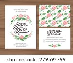 wedding set with watercolor... | Shutterstock .eps vector #279592799