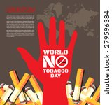 world no tobacco day background ... | Shutterstock .eps vector #279596384