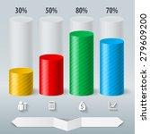 infographics set color cylinder.... | Shutterstock .eps vector #279609200