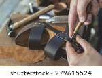 making shoes manual. leather... | Shutterstock . vector #279615524