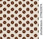 coffee seamless texture | Shutterstock .eps vector #279622874