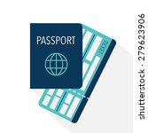 passport and boarding pass... | Shutterstock .eps vector #279623906