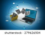 data transferring | Shutterstock . vector #279626504