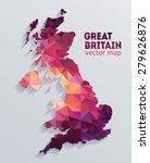 vector great britain map | Shutterstock .eps vector #279626876