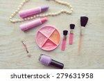 makeup eyeliner brush with... | Shutterstock . vector #279631958
