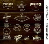 fishing badges logos and labels ... | Shutterstock .eps vector #279639254